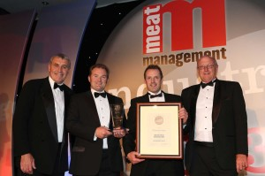 John and Andrew receiving Meat Management's 'Britains Best Butcher Award'