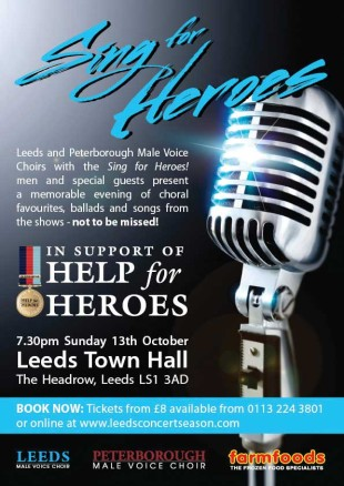 sing for heroes poster