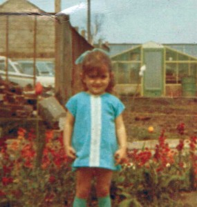 Me on the 'Good Life' farm aged about three.