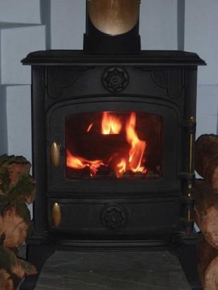 typical wood burner