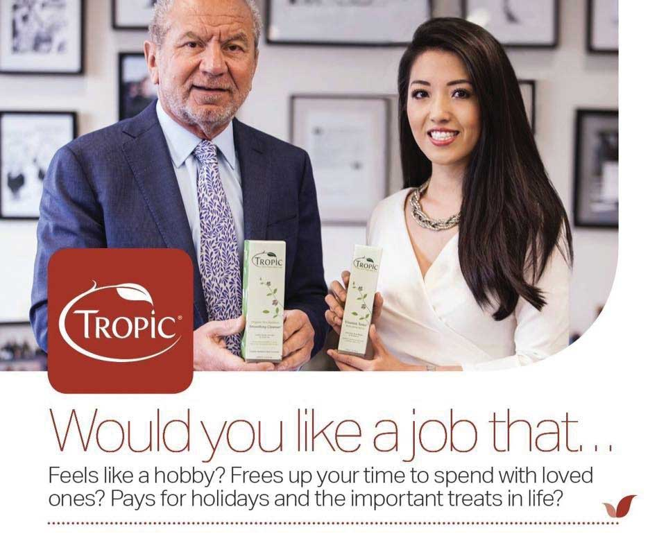 Image result for alan sugar tropic skin