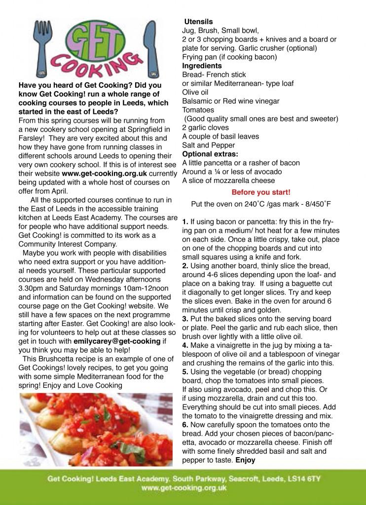get cooking Bruschetta recipe