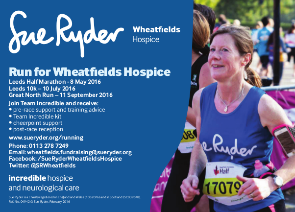 sue ryder Running Events Advert