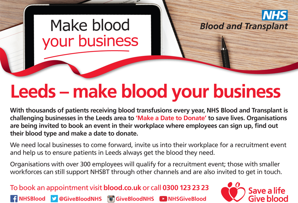 NHS BLOOD -make blood your business