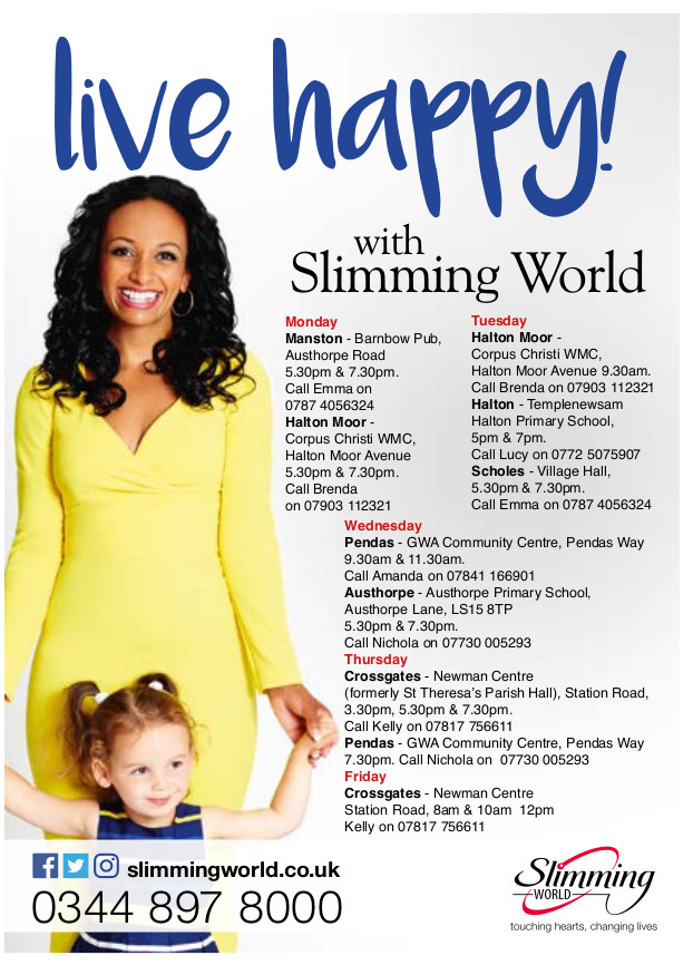 Slimming world love it coock it share it east leeds magazine Slimming world slimming world