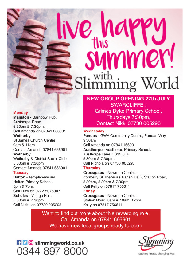 Slimming World Fire In Your Belly East Leeds Magazine